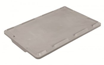 Lid for crate UNI 60x40, GREY plastic