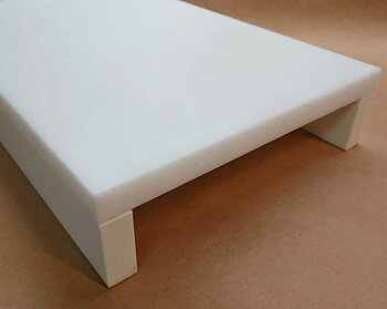 Cutting board 500x320x25, WHITE / 2 lips