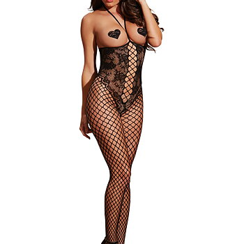 Open cup '' Fishnet Lace - Body Stocking