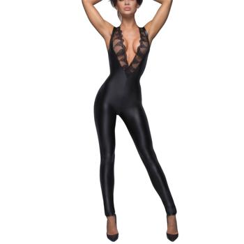 Jumpsuit - Wet Look Spets - ''Noir''