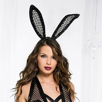 Bunny Ears Fishnet - Headband