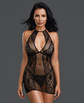 Neglige med string trosa   one size
