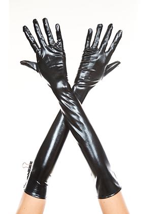 Handske i Wetlook - Svart
