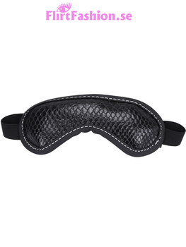 Blindfold - snake skin - Black/White