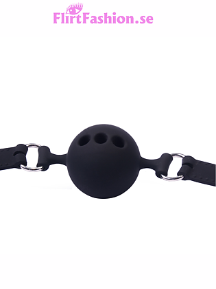Gag Ball in silicone - Large - Black