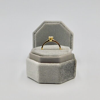 Ring Julia handgjord guld diamant 0,25 ct