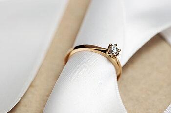 Ring Julia handgjord guld diamant
