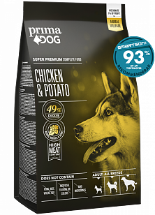 Prima Dog  Kyckling & Potatis för vuxna hundar av alla raser 10 kg