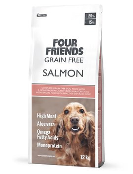 Four Friends,  Grain Free Salmon  12 kg ( Derma Coat)