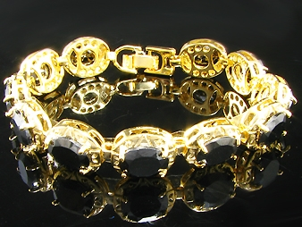 Bracelet Black Romance Gold Plated