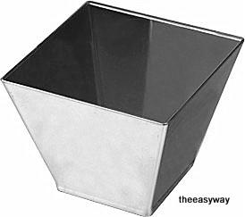 Fyrkantig mini skål i silver. 12 st.