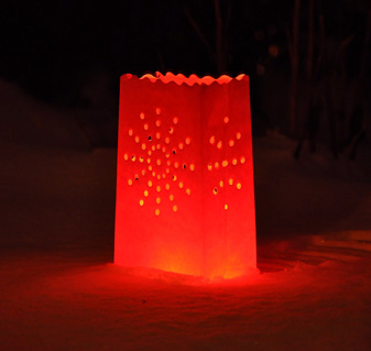 Candle Bag Stardust - Red