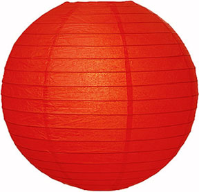 Paper Lantern. Red. 30 cm