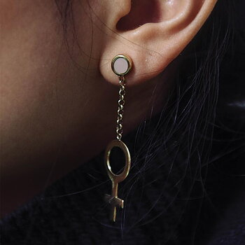 Future Is Female Golden Earrings - Out of stock