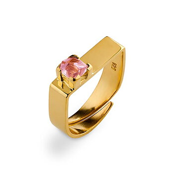 Prisma Blush Golden Ring