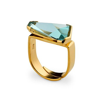 Prisma Aqua Golden Gala Ring