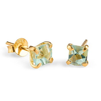 Prisma Aqua Golden Earrings