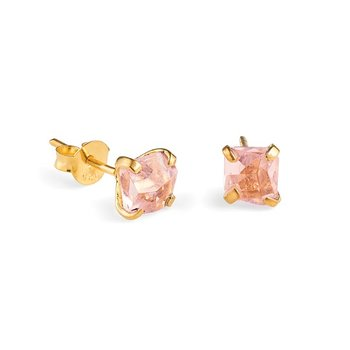 Prisma Blush Golden Earrings