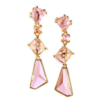 Prisma Blush Golden Gala Earrings - Out of stock