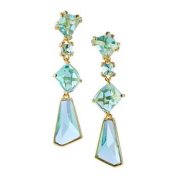 Prisma Aqua Golden Gala Earrings