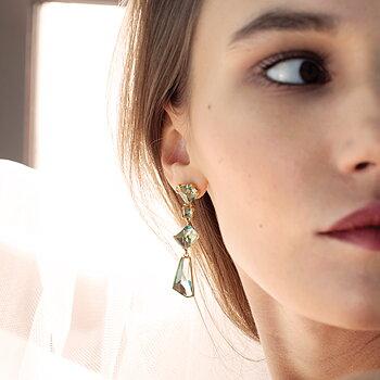 Prisma Aqua Golden Gala Earrings