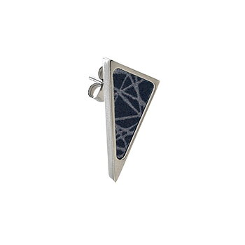 Virrvarr Triangle small dark Earring - Sold as a single earring
