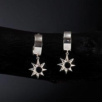 Silver Star Hoops