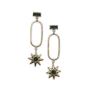 Star Golden Earrings