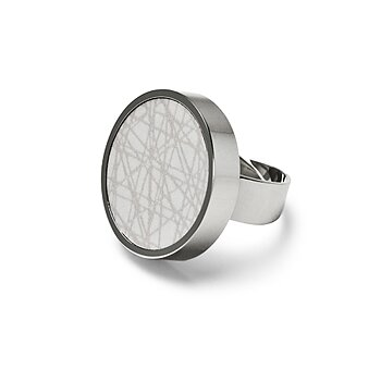 Virrvarr light grey Ring