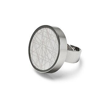 Virrvarr light grey Ring