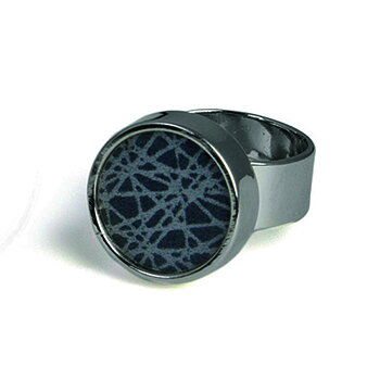 Virrvarr small dark grey Ring