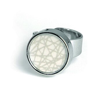 Virrvarr small light grey Ring