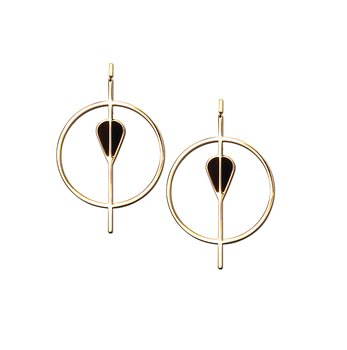 Vitae Golden Statement Earrings
