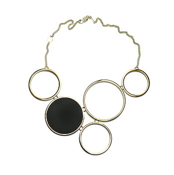 Luna Golden Statement Necklace