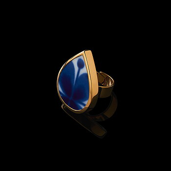 Mon Amie Golden Droppe Ring