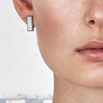 Virrvarr Rectangle small light Earring - Säljs som ett singelörhänge