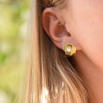 Modernista Zenit Golden Earrings