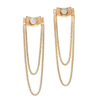 Modernista Zenit Golden Chain Earrings