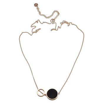 Luna Golden Eclipse Necklace - Best selling necklace now also available with a glowing finish!