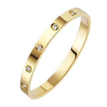 Armband med kristaller och i 18K  Guldplätering