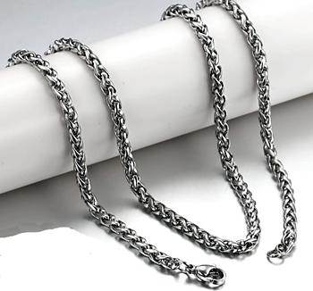 Kungslänk i rostfritt stål 3 mm resp 4 mm -längd 40, 45, 50, 55 resp 60 cm