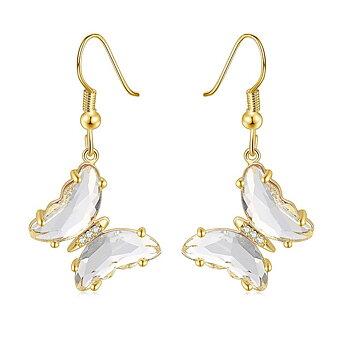 """Örhängen """"Butterfly"""" i 18K Guldplätering -Vita kristaller"""