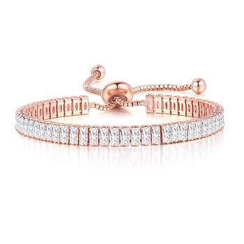Armband med Cubic Zirconia och i 18K RoséGuldplätering