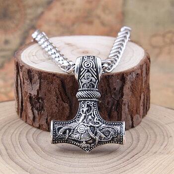 """Halsband """"Mjölnir"""" med Kungslänk 5mm -längd  50 resp. 70 cm"""