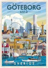 Gothenburg 400 year Poster 50x70 cm