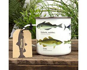 Fisk Emaljmugg 500 ml