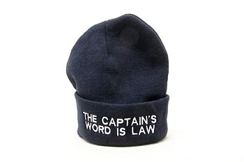 Knitted Hat The Captain's Word Is Law