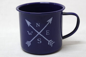 Arrows-Cardinal direction Enamel Mug 8x9 cm