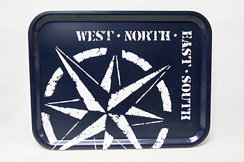 Compass Rose Tray 43x33 cm