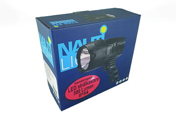 Hand-held headlight rechargeable IP54